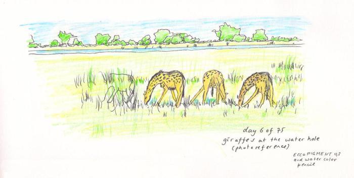 giraffe #5 day 6of75