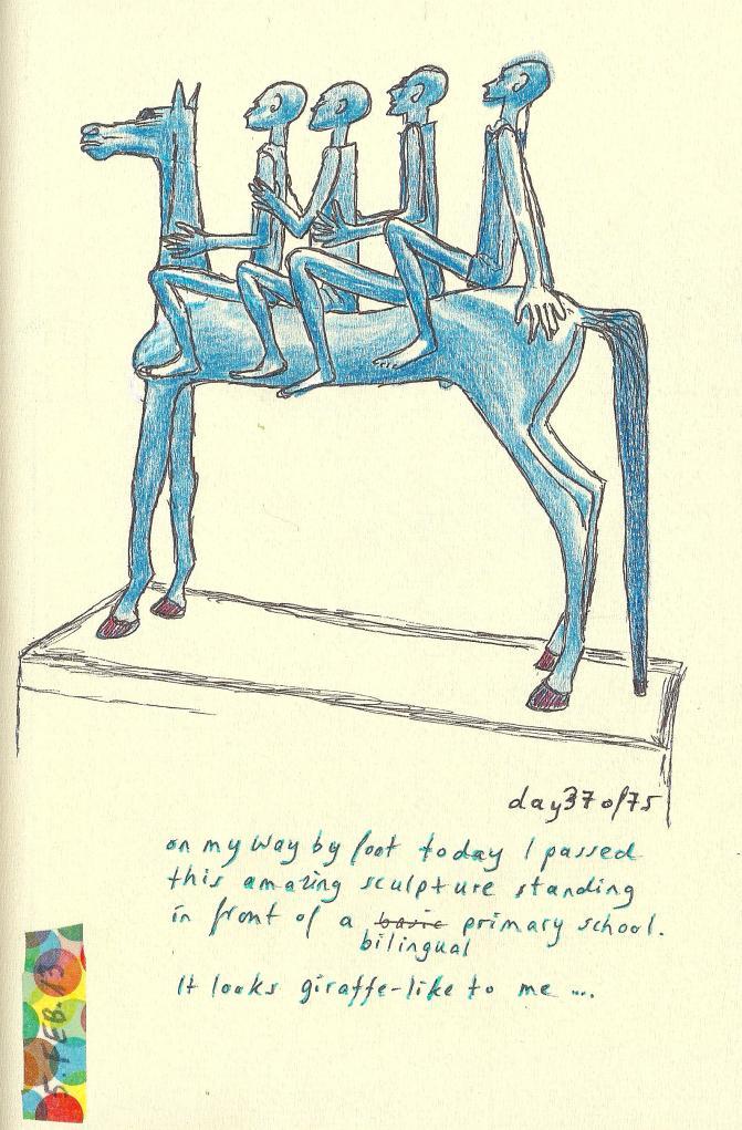 #37of75 giraffe Feb#3