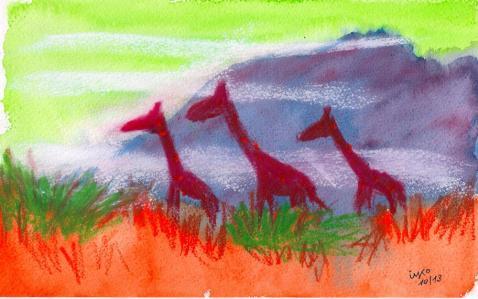 inspired by Franz Marc - artists giraffe #1