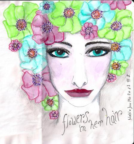#5 flowers in her hair