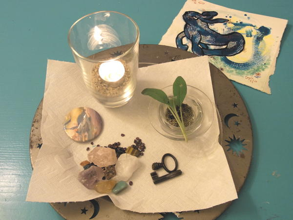 """my """"altar"""" for meditation and relaxing"""