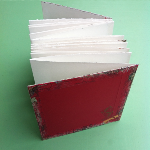 2014-08-01 first handmade folded sketchbook