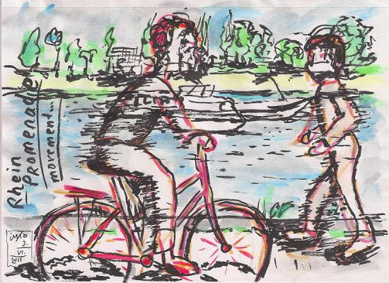 20150603 Real time sketching at the river side 75dpi