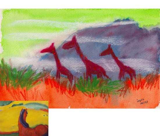 Oct famous artists giraffe #1 original und heist