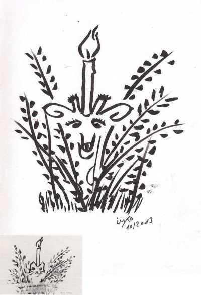 """Oct famous artists giraffe #2 original und """"heist"""""""
